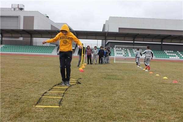 Grade 5 & Grade 6 students PE activity