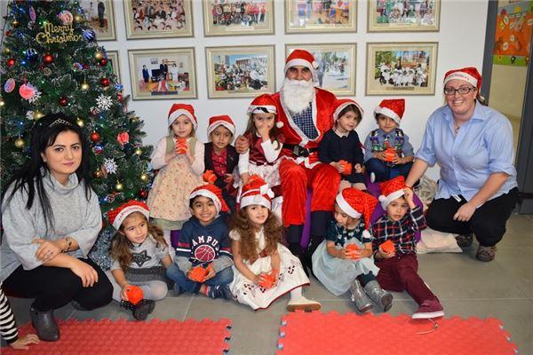 Santa visiting KG Department